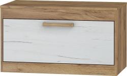 MEBLOCROSS Maximus MXS-33 tv stolík craft zlatý / craft biely