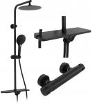 Sprchový set s termostatem Rea MIKE Black