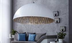 LuxD 16712 Lampa Glimer 70cm bielo-strieborná závesné svietidlo