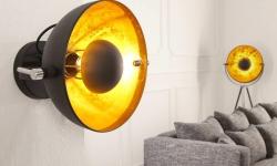 LuxD 16802 Nástenná lampa STAGE čierno zlatá