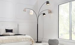 LuxD 17527 Dizajnová oblúková stojanová lampa SHADOW Stojanové svietidlo