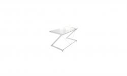 Meble PL Dizajnový stôl Brik chrómovaný biela