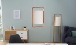 LuxD 20039 Závesná lampa Sweden / prírodná závesné svietidlo