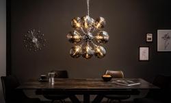 LuxD 21148 Dizajnové závesné svietidlo Lilyana, 72 cm, strieborné závesné svietidlo