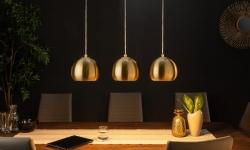 LuxD 21372 Dizajnová závesná lampa Giovani 3 zlatá závesné svietidlo