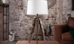 LuxD 21395 Dizajnová stolová lampa Dawson, 64 cm, biela