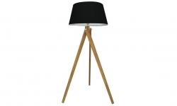 LuxD 21396 Dizajnová stojanová lampa Dawson, 155 cm, čierna Stojanové svietidlo
