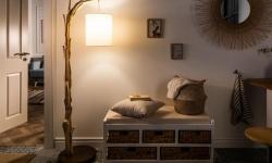 LuxD 21468 Dizajnová stojanová lampa Arielle, 160 cm, náplavové drevo Stojanové svietidlo