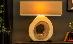 LuxD 21560 Dizajnová stolná lampa Deandre, 92 cm orech
