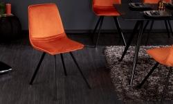 LuxD 21809 Dizajnová stolička Holland oranžový zamat