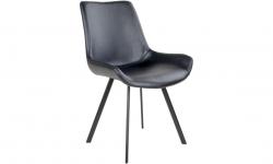 Norddan 21860 Dizajnová stolička Brinley čierna koženka