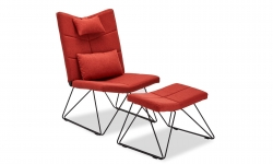 Furnistore Relaxačné kreslo Abbott, červené