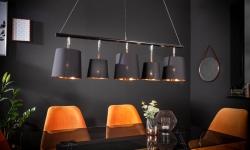 LuxD 22862 Závesné svietidlo Shadow 100 cm čierna - zlatá závesné svietidlo