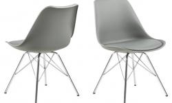 Dkton 23943 Dizajnová stolička Nasia, sivá