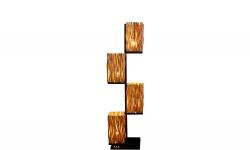 LuxD 24284 Dizajnová stojanová lampa Leonel 149 cm longan Stojanové svietidlo
