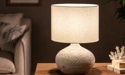 LuxD 25002 Stolová lampa Dylan I 43 cm béžová