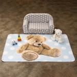 Vopi Detský koberec Ultra Soft Medvedík modrá, 130 x 180 cm