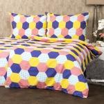 4Home Krepové obliečky Patchwork pastel, 140 x 200 cm, 70 x 90 cm