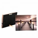 LED obraz na plátne Pier, 20 x 15 cm