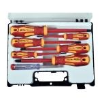 EXTOL PREMIUM skrutkovače elektrikárske so skúšačkou, sada 7ks, CrV 53087