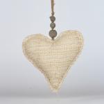 Závesná dekorácia srdce látkovej 18x18cm
