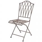 Kovová záhradná stolička Romantic 45x54,3x91,8cm