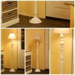 Podstavec stojacej lampy biela 136cm