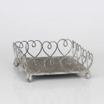Stojan na servítky kovový motív srdce 16x16cm