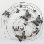 Nástenná dekorácia kovový obraz motýľ 98cm
