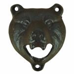 Nástenný otvírák na láhve medvěd litina 10x8cm