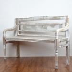 Drevená záhradné lavice hnedá s patinou 130x85x40cm