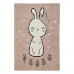 Detský Koberec Bunny 2, 100/150cm, Ružová
