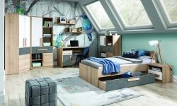 BOG-FRAN Aygo študentská izba pieskový buk / biela / peltro