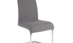 TEMPO KONDELA Amina jedálenská stolička svetlosivá / chrómová